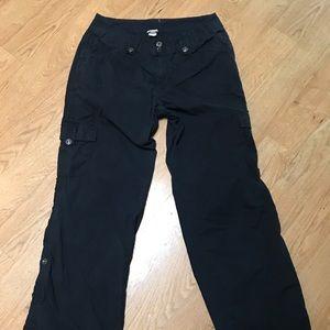 Venezia Black Cargo Pants - 14